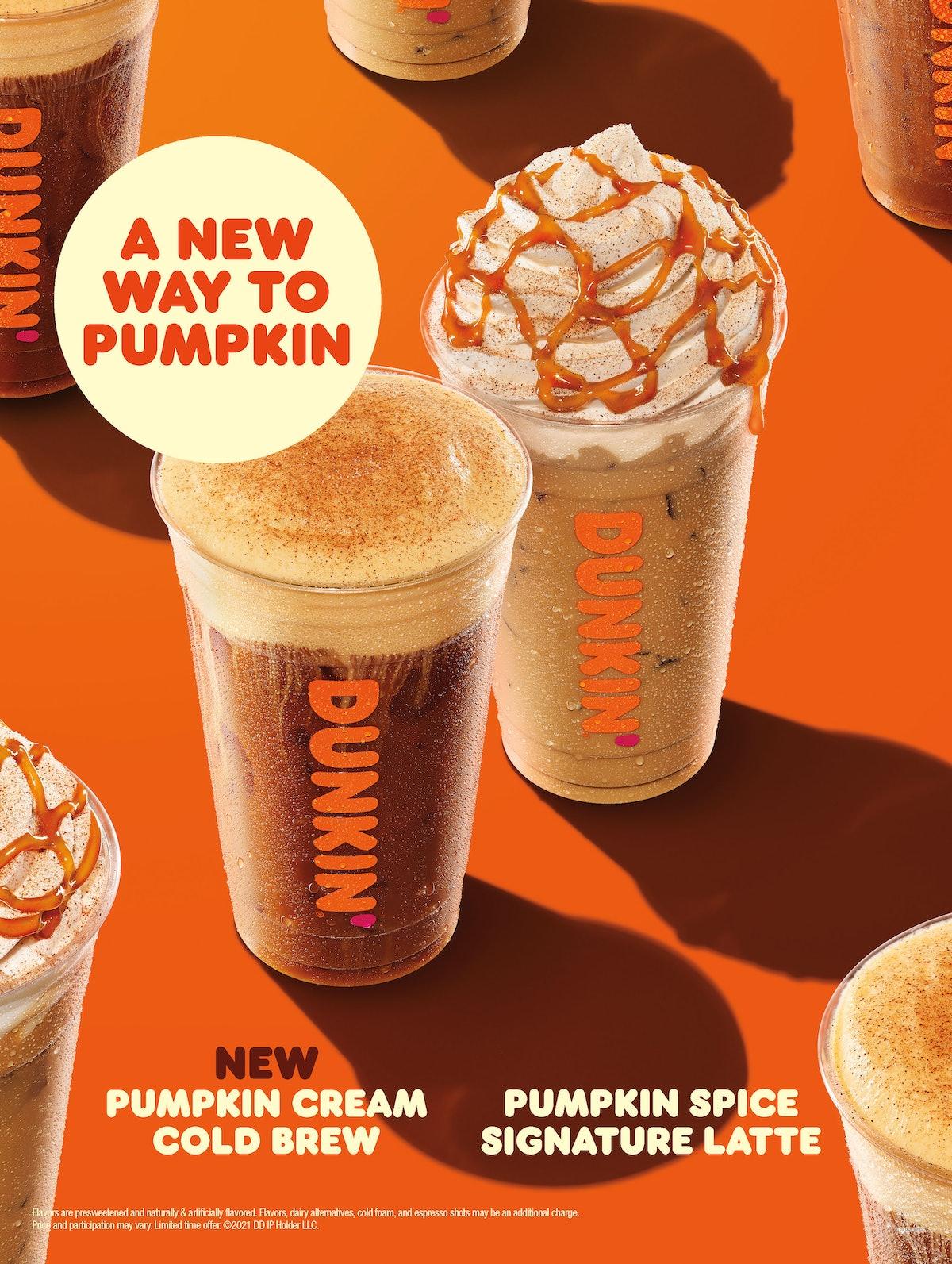 Dunkin's Pumpkin Cream Cold Brew caffeine count is impressive.