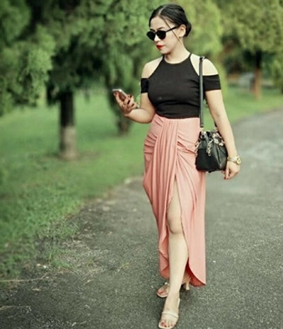 SheIn Draped Maxi Skirt