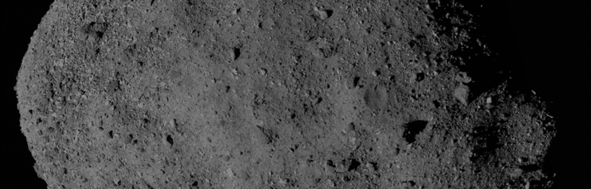 The near Earth asteroid Bennu.