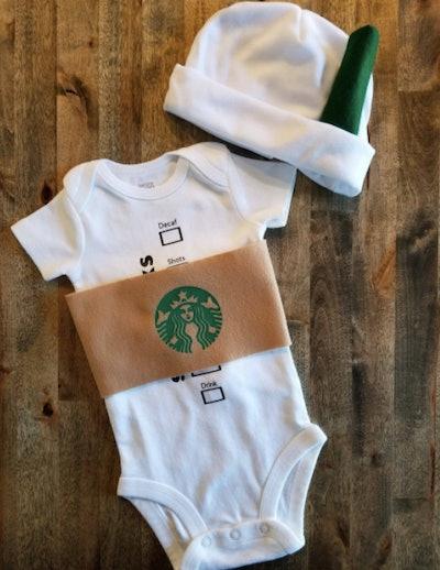 Baby Starbucks coffee Halloween costume