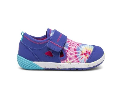 toddler water shoe from Merrell, sneaker style with tie dye upper