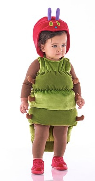 Baby dressed as the Very Hungry Caterpillar