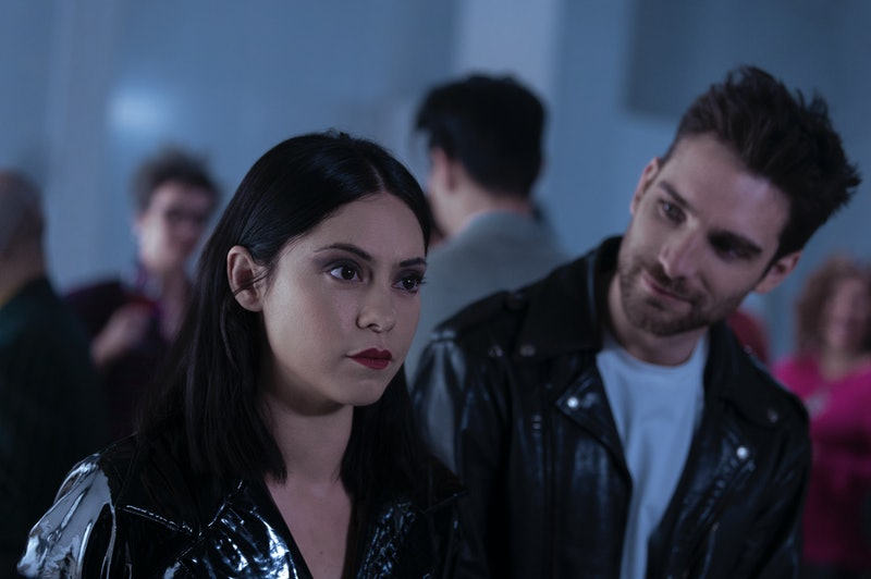 ROSA SALAZAR as LISA NOVA and JEFF WARD as ROY HARDAWAY in episode 101 of BRAND NEW CHERRY FLAVOR.