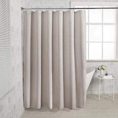 AmazerBath Waffle Shower Curtain