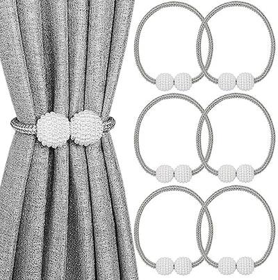 Melaluxe Magnetic Curtain Tiebacks (6-Pack)