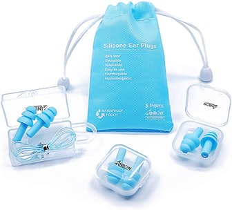 ANBOW Reusable Silicone Earplugs (2 Pairs)