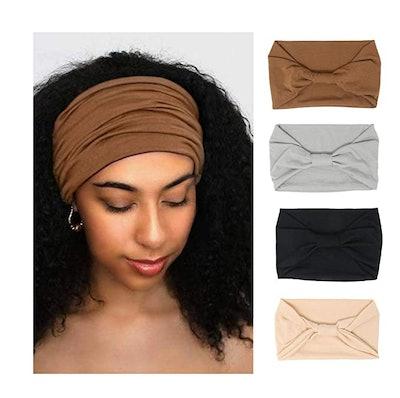PLOVZ Wide Headbands (4-Pack)