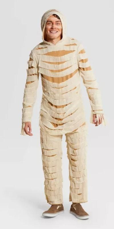 Adult Mummy Halloween Costume Jumpsuit