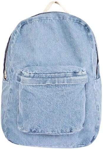 american apparel denim backpack back to school