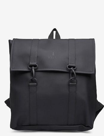 black waterproof backpack rains ssense
