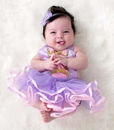 Baby wearing a princess costume