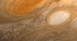 Jupiter Great Red Spot and White Ovals