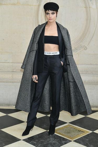 Cara Delevingne in Dior.
