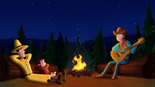 Go West Go Wild is a cowboy movie for kids starring Curious George.