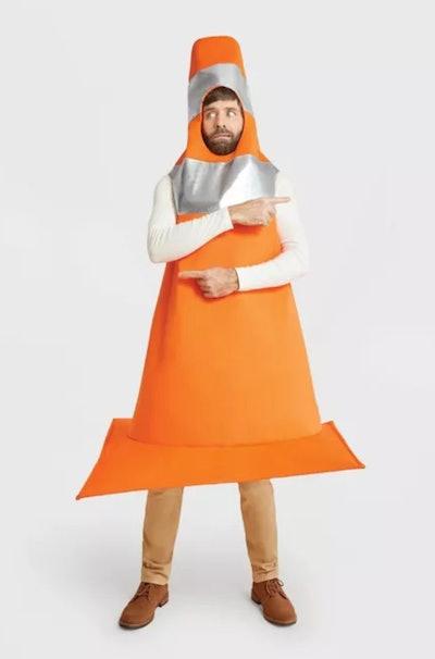 Adult Construction Cone Halloween Costume