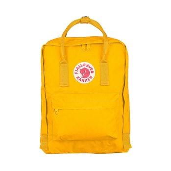 fjallraven kanken backpack vsco girl yellow