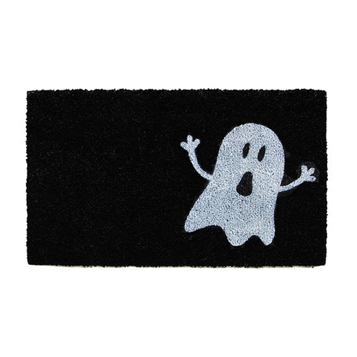 Calloway Mills Black/White Ghost Rectangular Outdoor Doormat