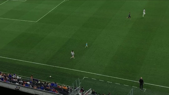 Video of an Ohio mom sprinting onto the soccer field at TQL Stadium after her 2-year-old escaped his...