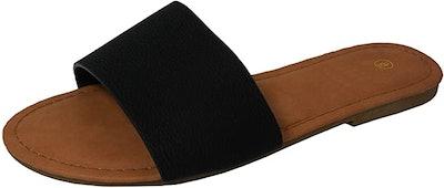 Cambridge Select Women's Slip-On Open Toe Sandal