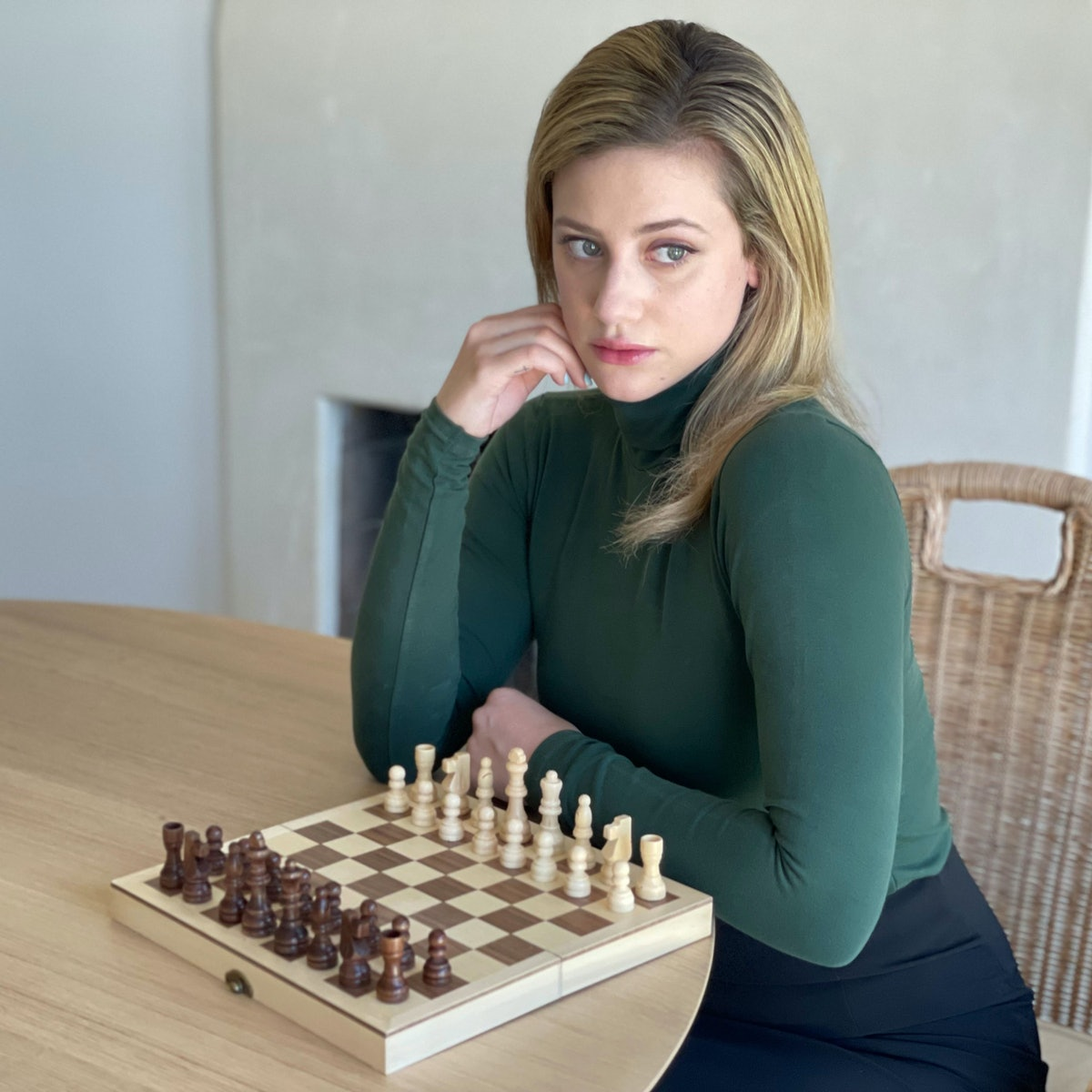 Lili Reinhart as Beth Harmon from The Queen's Gambit