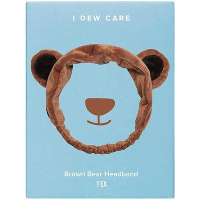 I DEW CARE Brown Bear Face Wash Headband