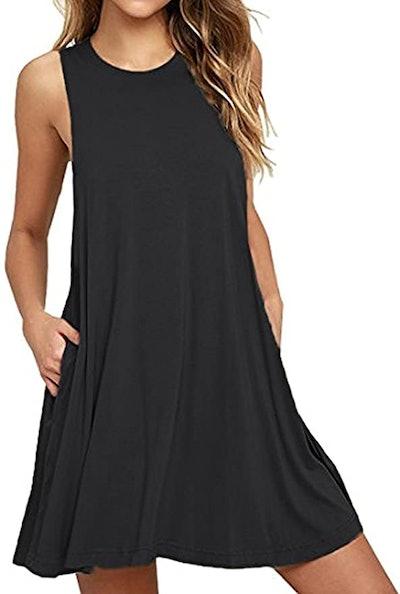 HAOMEILI Casual Swing T-Shirt Dress