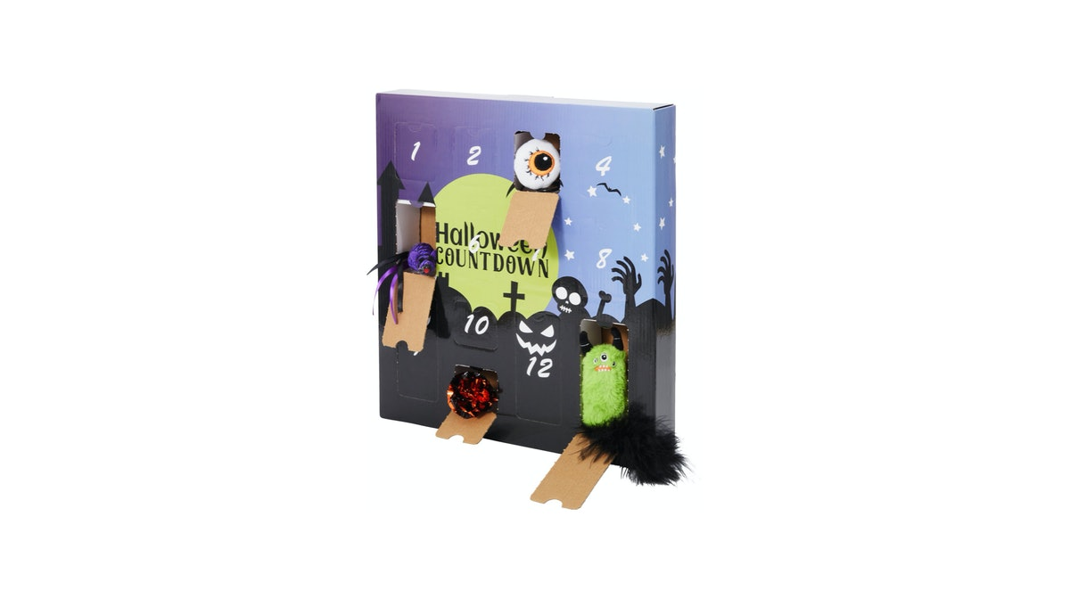 Chewy's cat Halloween advent calendar is filled with 13 unique toys for your feline.