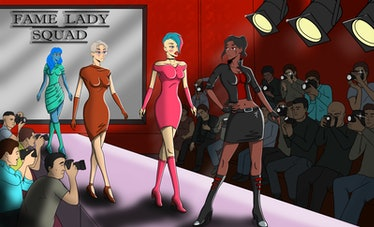 Fame Lady Squad NFT illustration of women on the runway