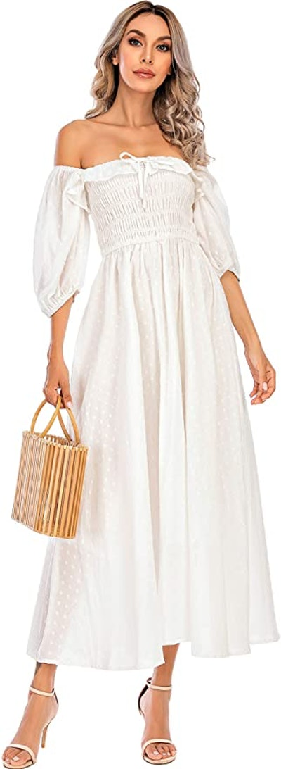 R.Vivimos Summer Half Sleeve Cotton Ruffled Vintage Dress