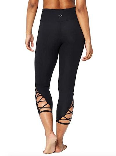 Core 10 High Waist Yoga Lattice Crop Leggings
