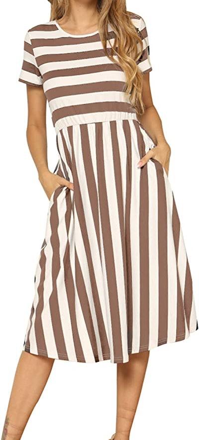 levaca Midi Dress with Pockets