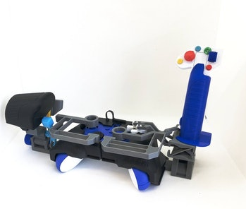 3d printed flight stick for xbox controller