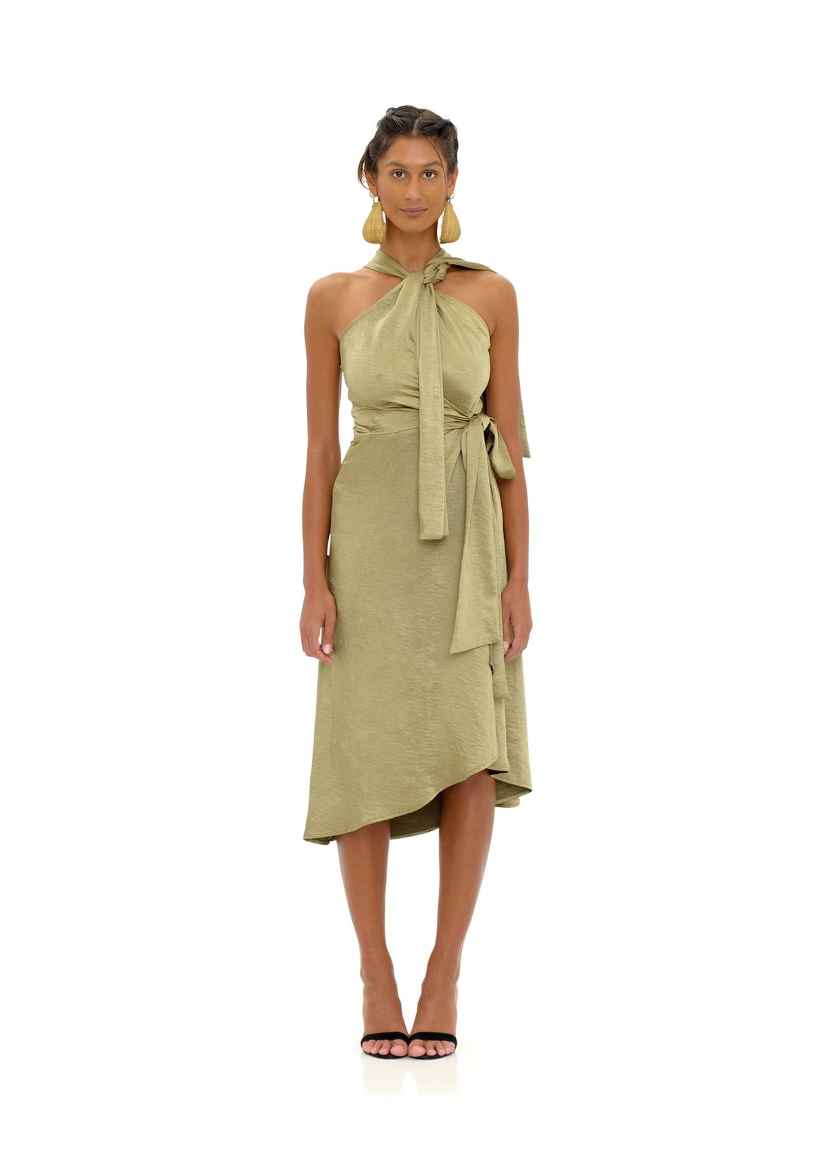 Olen Wrap Halter Dress from Andrea Iyamah.