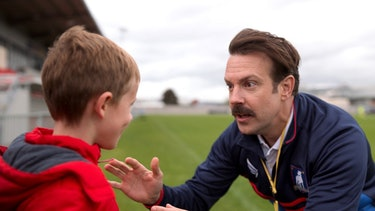 Ted Lasso talking to his son
