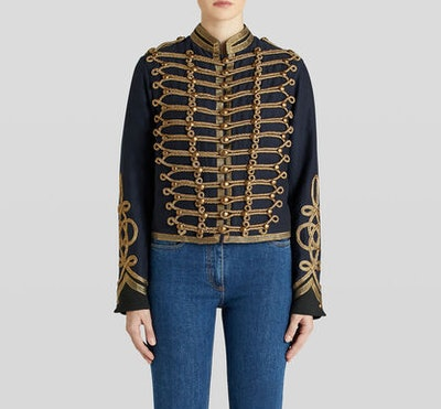 Military Jacket With Braiding