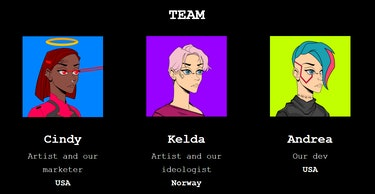 The Fame Lady Squad NFT team