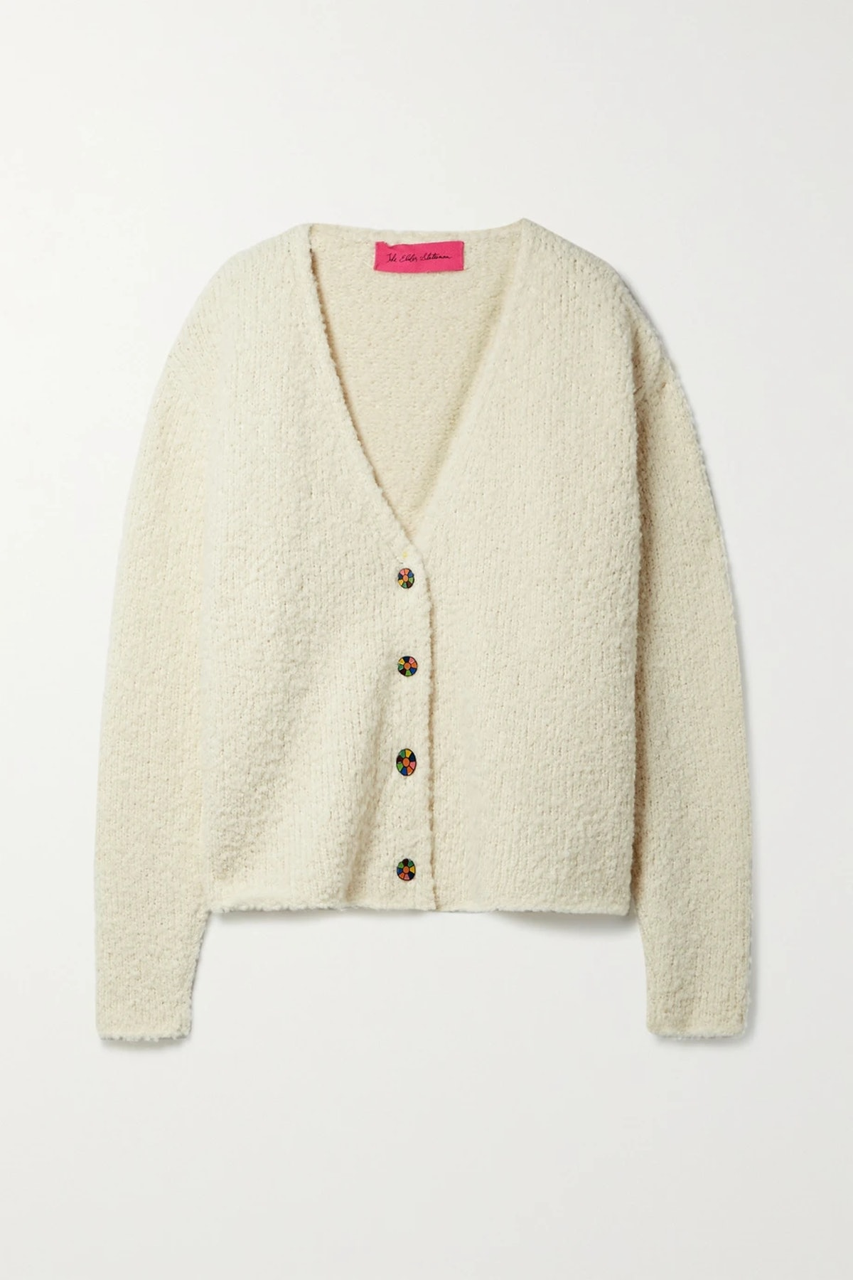 Teddy Mellow cashmere, alpaca and silk-blend cardigan from The Elder Statesman, available to shop on...