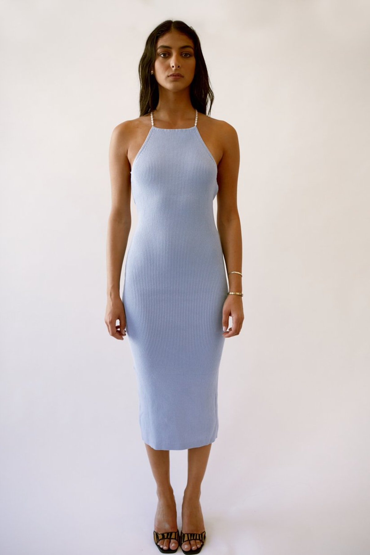 Delila Mid-Length Knitted Dress from Musier Paris.