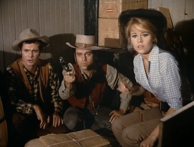 Cat Ballou is a spoof of Western movies