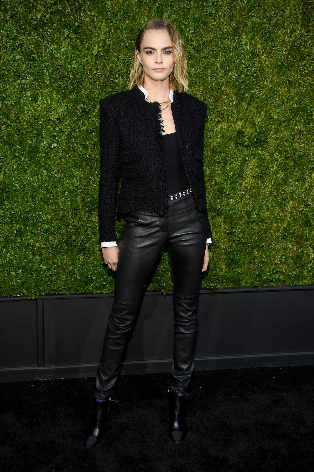 Cara Delevingne in a little punk Chanel number.