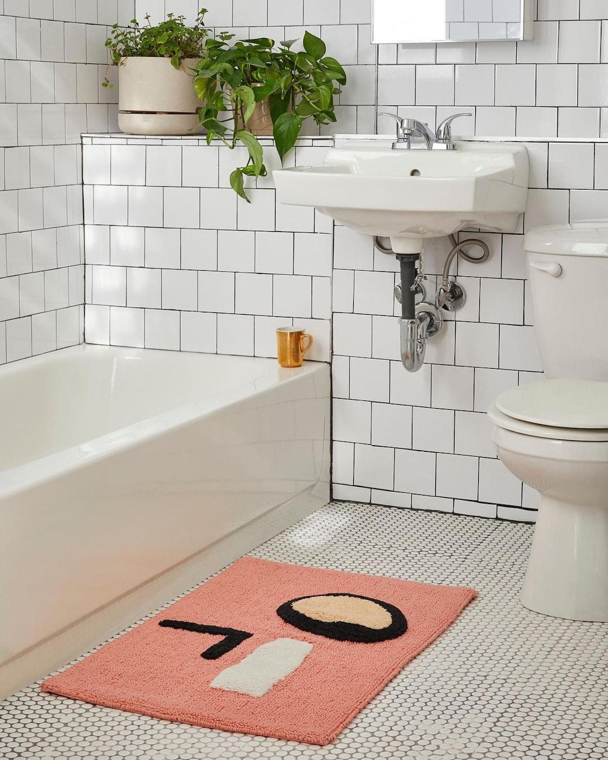 statement bath mat