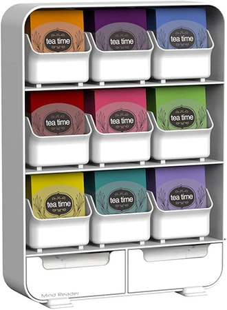 Mind Reader 9 Removable Drawers Tea Bag and Condiment Organizer