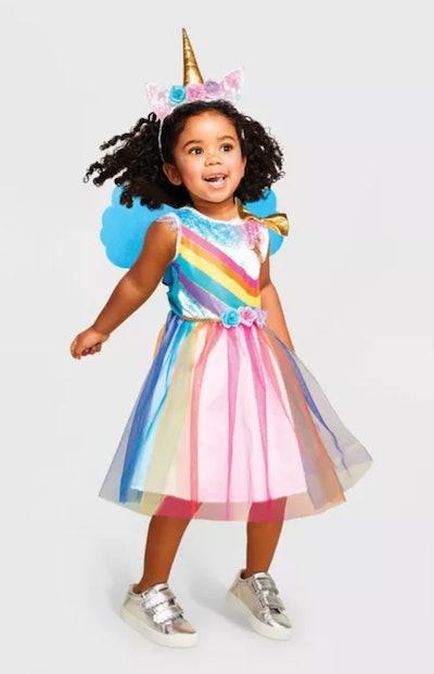 Toddler Rainbow Unicorn Halloween Costume