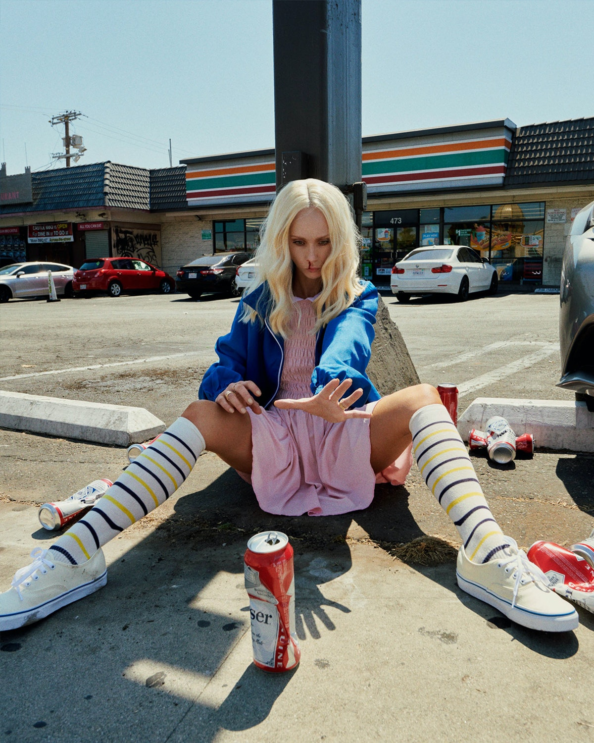 Juno Temple as Eleven from Stranger Things