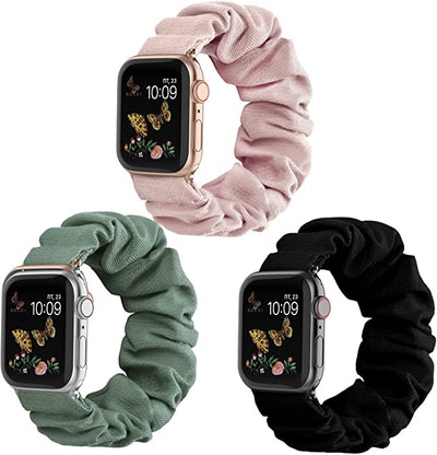 Recoppa Compatible for Scrunchie Apple Watch Band (3-Pack)