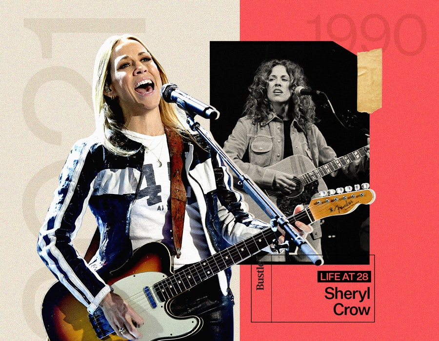 Sheryl Crow at 28 and today.