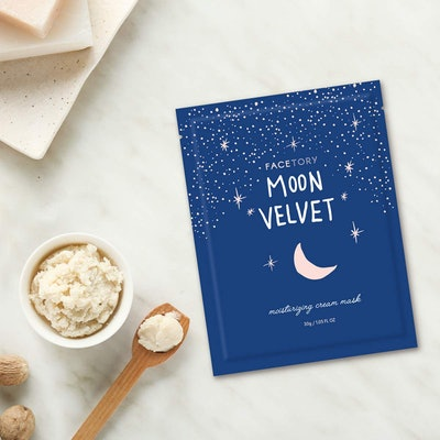 FaceTory Moon Velvet Moisturizing Cream Sheet Mask with Jojoba Oil (5 Pack)