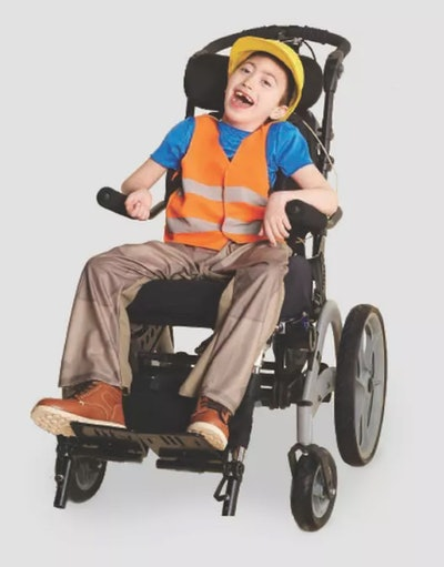 Kids' Adaptive Construction Worker Halloween Costume Jumpsuit (with 2 Accessories)