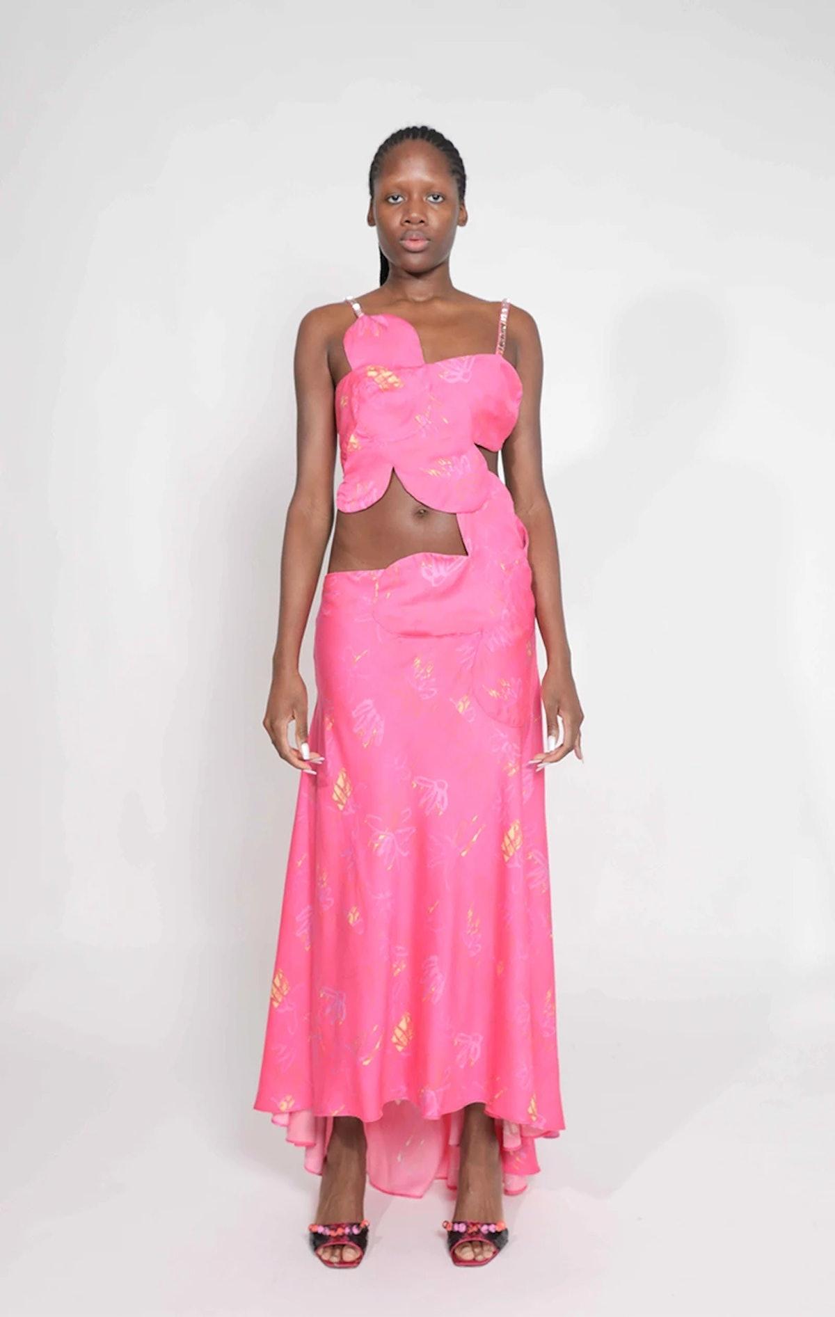 Collina Strada flower gown