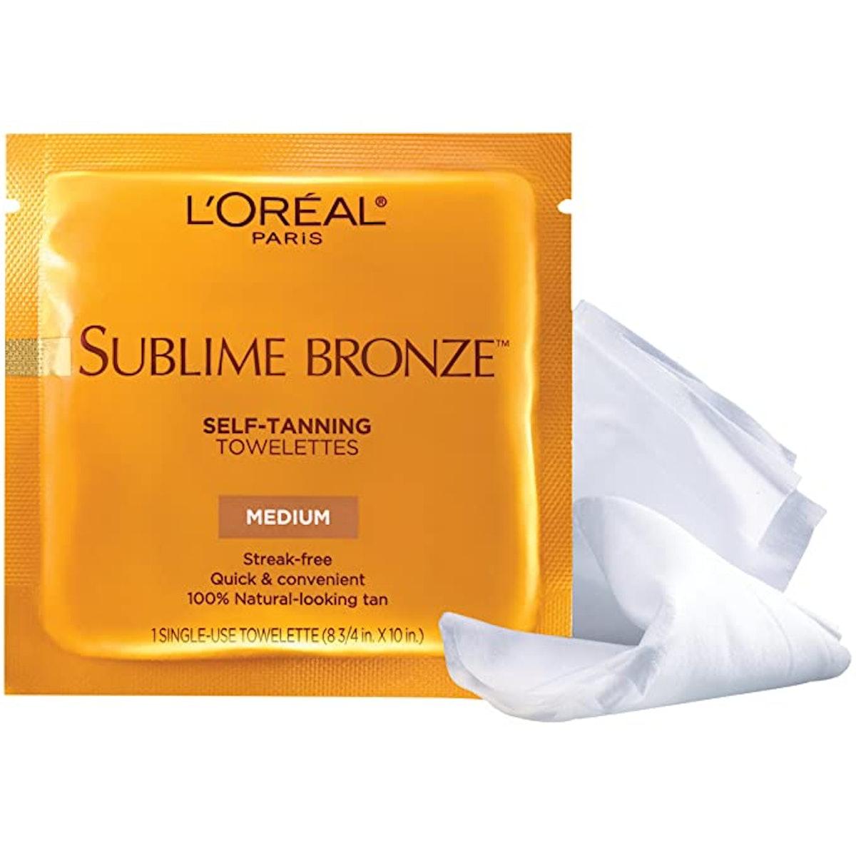 L'Oreal Paris Skincare Sublime Bronze Self-Tanning Towelettes (6 Count)